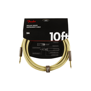 Straight-Straight Fender 10ft Deluxe Series Tweed Instrument Cable