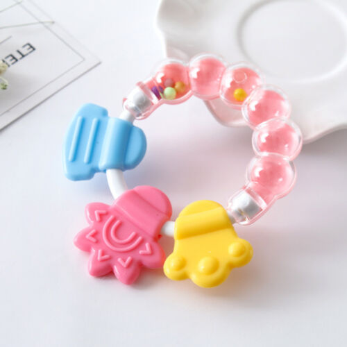 Silicone Teether Teething Chewable Teeth Biting Rattle Toddler Toy Baby Safety
