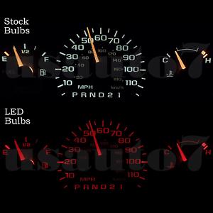 Image Is Loading Dash Instrument Cer Gauges Red Led Light Bulbs