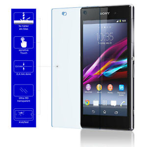 9H-Schutzglas-Echt-Glas-Handy-Cover-Schutzfolie-fuer-Original-Sony-Xperia-Z1