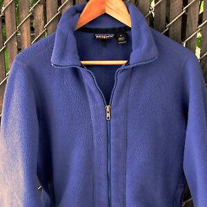 f6d95cc36d1 Vintage 1990 s Patagonia Synchilla Women s Blue Fleece Full-Zip ...