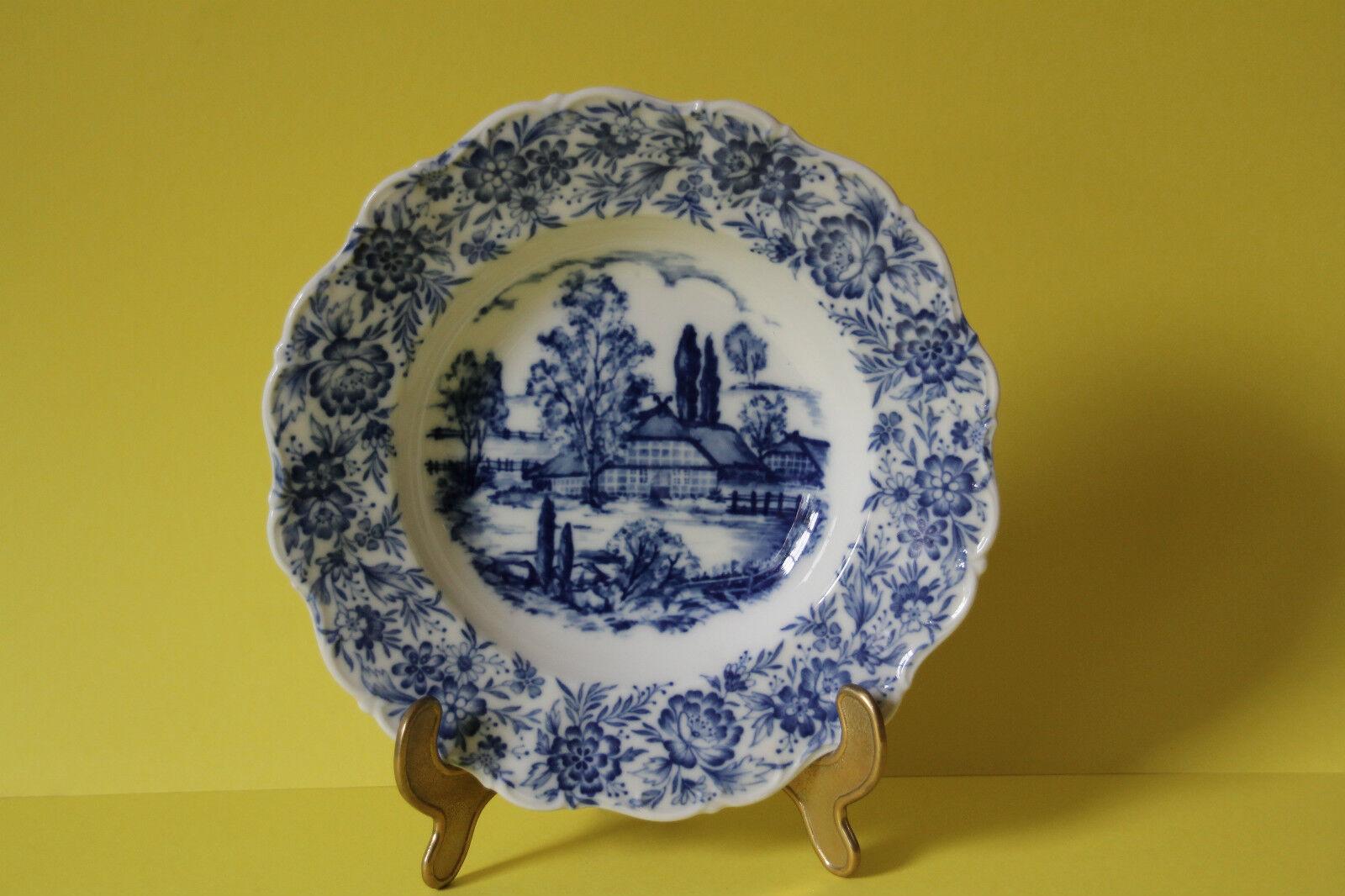 6 seltmann weiden-thérèse pays bleu assiettes à soupe 23,5 cm 6 pièces