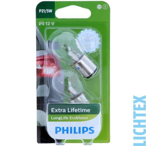P21//5W PHILIPS LongLife EcoVision DUO-Box Scheinwerfer Lampe
