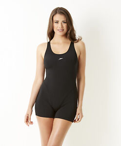 562bf448ffb5bd Das Bild wird geladen Speedo-Badeanzug-mit-Bein-und-Bustier-Schwimmanzug- Damen-