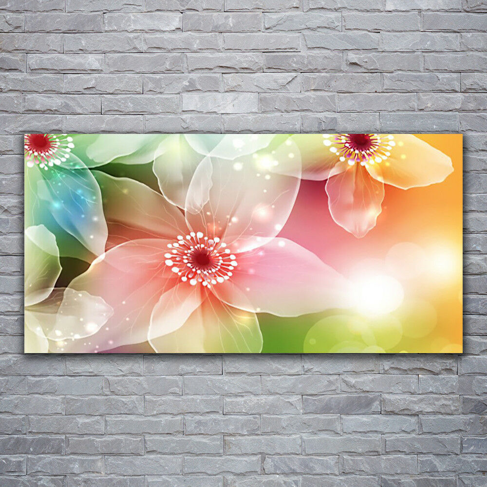 Print on Glass Glass Glass Wall art 120x60 Picture Image Flowers Art 90f6a1
