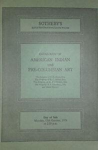 1976 Catalogue Di Vendita SOTHEBY'S American Indian E Pre Colombiana Art