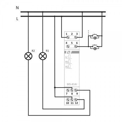 Bistabiles Relais Gruppenrelais Lichsteurung Stromstoßrelais Sequenzrelais 5755