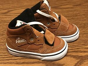 ce01ecb47f Vans Mountain Edition Canvas   Suede Brown Glazed Ginger Hi Toddler ...