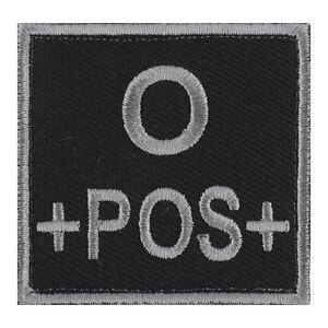 ECUSSON-PATCH-GROUPE-SANGUIN-O-O-POS-O-POSITIF-avec-DOS-AUTO-AGRIPPANT