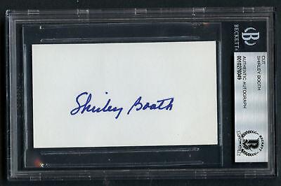 d.1992 Nachdenklich Shirley Booth Unterzeichnet Autogramm 2x3.5 Schliff Come Back,kleine Perfekte Verarbeitung