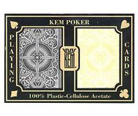Kem arrow Black And Gold Plastic Playing Cards Bridge Size Jumbo Index