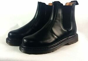 Mens-Classic-Bootstrap-Pull-up-Combat-Chelsea-Ankle-Formal-Casual-Boots-17667
