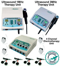 Combo Ultrasound Therapy 1mhz Amp 3mhz Machine With 4 Channel Electrotherapy Unit