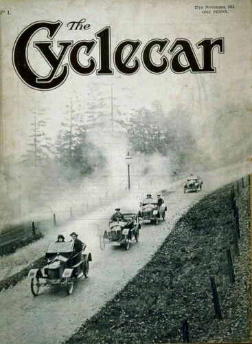 Vintage Old Transport Poster The Cyclecar 1912 Print Art A4 A3 A2 A1