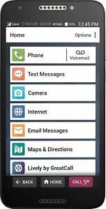 Lively- Jitterbug Smart2 Smartphone for Seniors - Black
