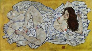 Resting-nude-by-Egon-Schiele-Giclee-Reproduction-on-Canvas