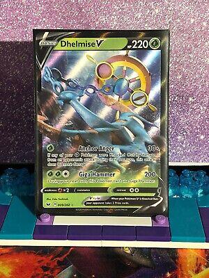 Ultra Rare Sword /& Shield 009//202 Pokemon Card TCG Dhelmise V SWSH01