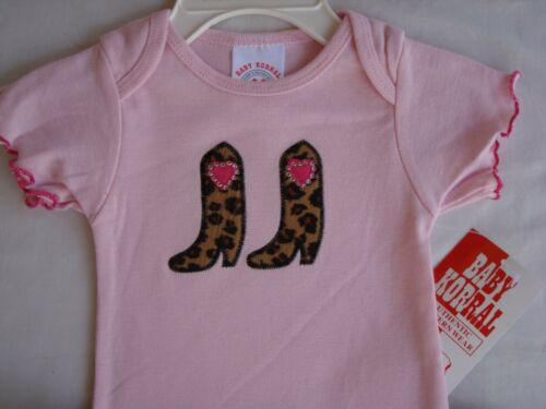 PINK Western Ballerina Cowgirl One Pc  Sz 24M  Leopard Cowgirl Boots  NWT