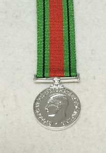 1939-1945-Defence-Medal-Miniature-GV1R-George-VI-WW2-Army-Military-New