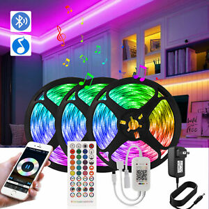 32-8-65-6Feet-LED-5050-Strip-Lights-50ft-Sync-Music-Bluetooth-Light-with-Remote