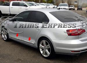 2011-2018-Volkswagen-Jetta-4Pc-Stainless-Steel-Flat-Body-Side-Molding-Trim-Door