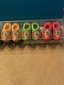 Details About Holland Mini Wooden Shoes 6 Pc Magnets Imported From Amsterdam Assorted Colors