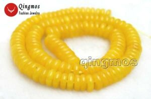 2*6mm Rondelle Yellow Jade Loose Beads Jewelry Making DIY Necklace Strand 15''
