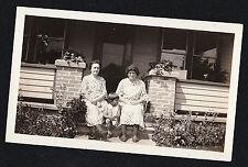 Vintage Antique Photograph Litting Boy Sitting w/ Women Wearing Matching Dresses