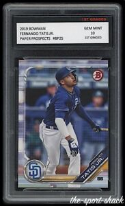 🌟2019 Fernando Tatis Jr. Bowman Prospects Rookie 1st Graded 10 Padres RC Card
