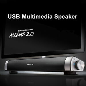 MIDAS-2-0-USB-Multimedia-Altavoz-Barra-Musica-HiFi-Ordenador-Portatil-PC-Laptop