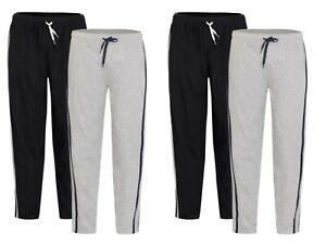 Homme-Long-Lounge-Wear-Pantalon-Nightwear-2-Pack-Pyjama-Bottoms-Sleepwear
