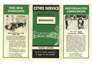 1934 Minnesota Road Map from Cities Service | eBay