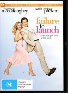 FAILURE-TO-LAUNCH-DVD-R4-2006-Matthew-McConaughey-LIKE-NEW-FREE-POST
