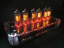 PV Electronics QTC Nixie clock Z5700 tubes +Plexi Case +PSU Fully Built