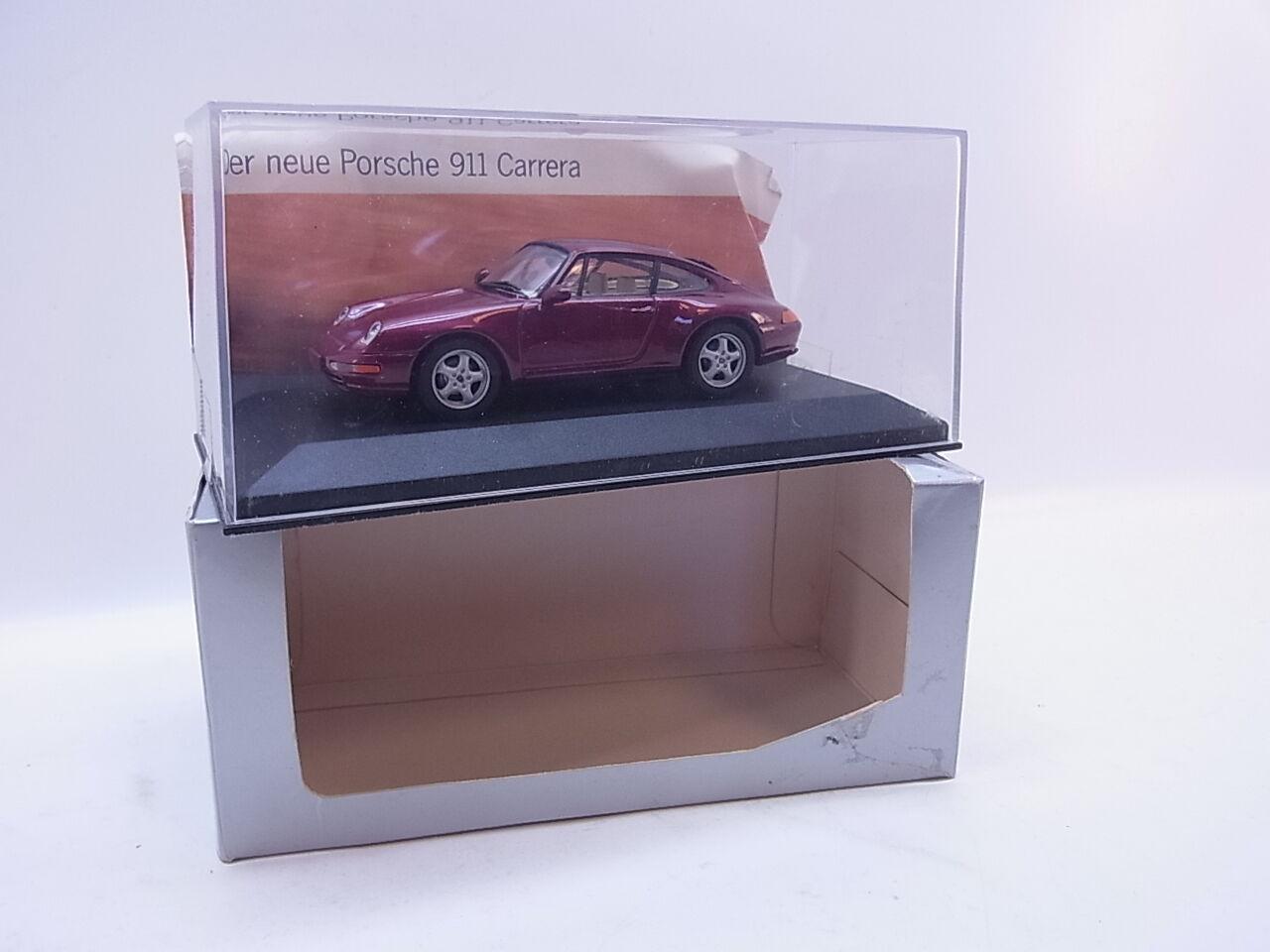 LOT 40692 Minichamps Porsche 911 Coupe Typ Typ Typ 993 rot-metallic Modellauto 1 43 OVP  | Angenehmes Gefühl  b3a276