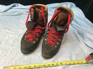 1bf979dde4d Details about Kastinger Men's Mountaineering Hiking boots size 8 suede  leather Vibram sole