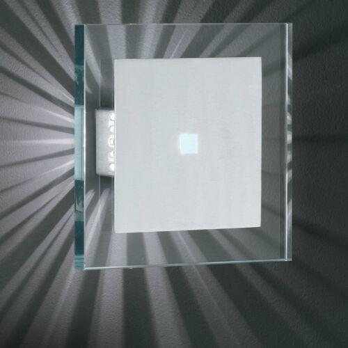Wofi Parete Laos 1-flg Alluminio Spazzolato Vetro Ultra Bianco 13,5x13,5 cm 33