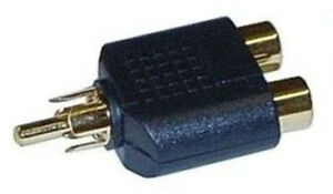 Gold-Single-1-x-RCA-Phono-Audio-Video-Y-Splitter-Socket-Adapter-Cable-TV-Lead