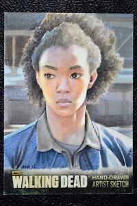 Walking-Dead-Season-3-Sasha-Sketch-Art-by-Sam-Hogg-Trading-Card-Cryptozoic
