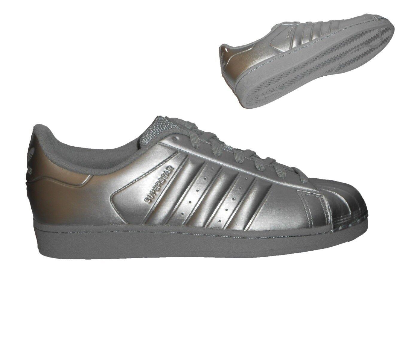 Adidas Superstar Zapatillas Hombre CONOCIDO PLATA TALLA 7-10.5 NUEVO