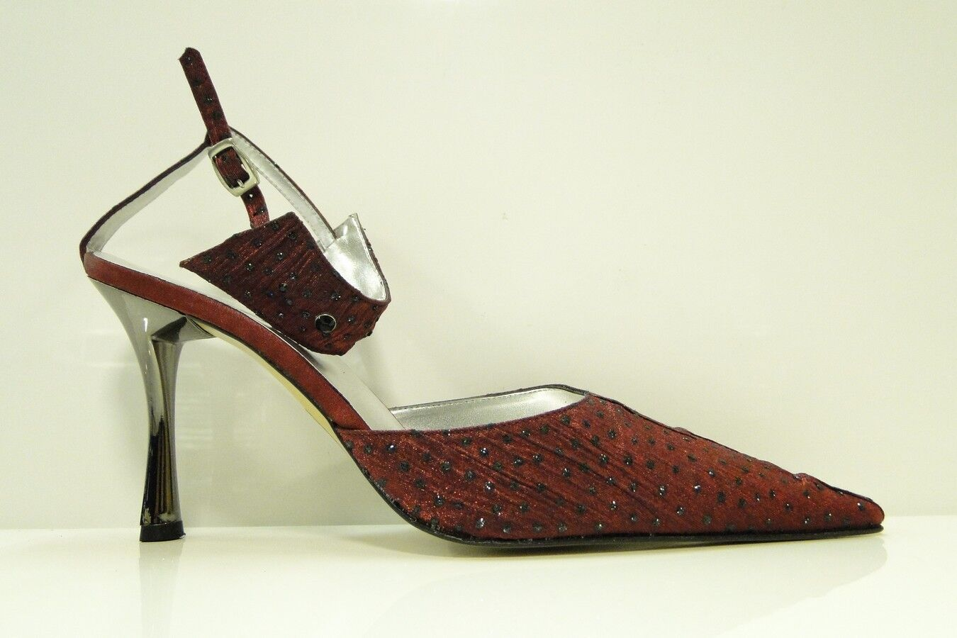 ESINO ITALIAN LADIES SHOES BOHEMES LADIES STRAP COURT SHOES - BORDO - UK 7
