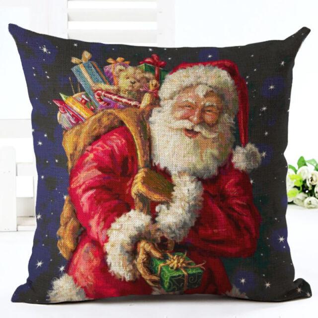 2016 Christmas Cartoon Decor Festival Home Sofa Decor Pillow Case Cushion Cover