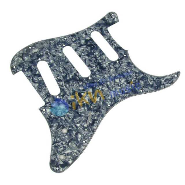 3Ply FD Squier Style Guitar Pickguard SSS Pickguard Pearl Grey /Smoky Blue Pearl