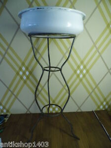 nr d106 waschsch ssel mit st nder um 1900 ebay. Black Bedroom Furniture Sets. Home Design Ideas