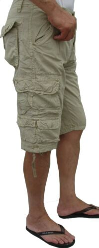 MENS sizes:30-42 MILITARY-STYLE SOLID COLORS CARGO SHORTS #818S BN