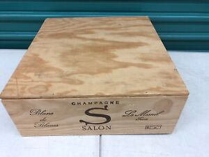 Details about Wine Box Case Wooden Crate 3/750ml French Champagne Salon  2002 Blanc De Blancs