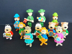 Lot-serie-complete-Kinder-12-Yogi-Bear-K96-50-a-61-France-1995