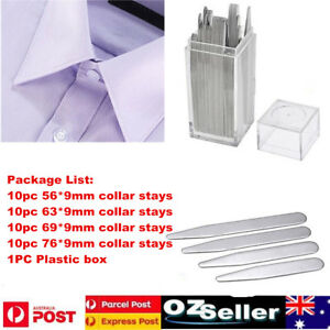 40pcs-Stainless-Steel-Collar-Stays-Stiffeners-For-Mens-Dress-Shirt-Men-039-s-Gift