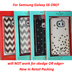 Brand New Kate Spade New York Hybrid Hardshell Case For Samsung Galaxy S6 ONLY