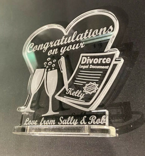 personalised Congratulations On Your Divorce Gift Keepsake FREE GIFT BAG